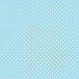 Small White Polka dots on Pastel Aqua, Seamless Background