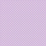 Small White Polka dots on Pastel Lavender  Royalty Free Stock Photography