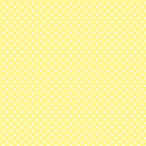 Small White Polka dots on Pastel Yellow. Seamless pattern of small white polka dots on a pastel yellow background for arts, crafts, fabrics, decorating, albums Stock Photos