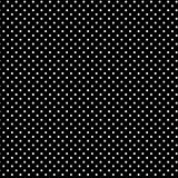 Small White Polkadots, Black Background. Seamless pattern of small white polka dots on a black background for arts, crafts, fabrics, decorating, albums and scrap Stock Photos