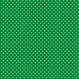 Small White Polkadots, Green Background Royalty Free Stock Image