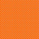 Small White Polkadots, Orange Background Royalty Free Stock Photo