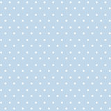 Small White Polkadots. Seamless pattern of small white polka dots on a bright pastel blue background for arts, crafts, fabrics, decorating, albums and scrap royalty free illustration