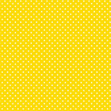 Small White Polkadots, Yellow Background, Seamless Background Royalty Free Stock Image