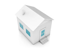 Small white private house Royalty Free Stock Photos