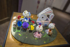 The small white rabbit lanterns Stock Images