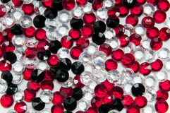 Small white, red and black diamonds Stock Photo