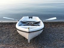 Free Small White Rowboat Royalty Free Stock Photography - 96622107