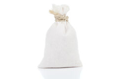 Small, white sack Stock Photo