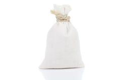 Small, white sack Stock Photo