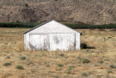 Small White Shed Stock Images