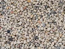 Small white stone gravel background texture. rocky, stony pebbles texture Stock Photography