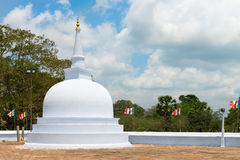 Small white stupa in Anuradhapura, Sri Lanka Stock Image