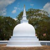 Small white stupa in Anuradhapura, Sri Lanka Stock Image