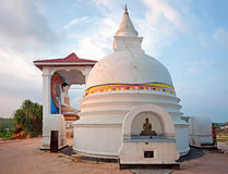 Small white stupa in Unawatuna Royalty Free Stock Photography