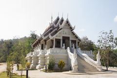 Small white temple in Chiang Rai, Thailand Stock Image