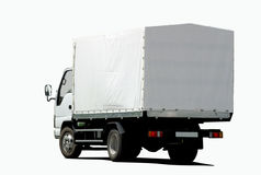 Small white truck Stock Images