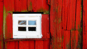 Small white window with wood Stock Photos