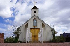 Small White Wooden Church Royalty Free Stock Image