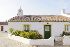 Small White and Yellow House Royalty Free Stock Photography