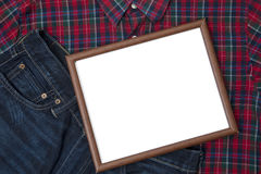 Small whiteboard with gift for father Stock Photography