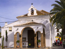 The Hermitage church of Nerja Spain. Small whitewashed church in Nerja Andalucia Spain Stock Photos