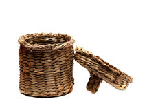 Small wicker basket with lid Royalty Free Stock Photography