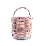 Small wicker basket on white background Royalty Free Stock Photography