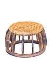Small Wicker Wood Table. Small Wicker Wood Table, Handmade Appliance by Hill Tribe Mountaineer stock image