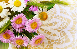 Small wild flowers Stock Photo