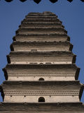 Small Wild Goose Pagoda. Panoramic view of xi an Small Wild Goose Pagoda Stock Images