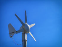Small wind turbine. Alternative clean energy, ecology concept Royalty Free Stock Photos