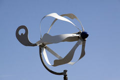Small wind turbine making electicity out of wind. Amsterdam,netherlands-may 12, 2015: Small wind turbine making electicity out of wind stock photos