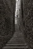 Small winding street in Giorna Royalty Free Stock Photography