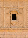 Small window with floral ornament, India Stock Images