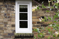 Small Window. An image of a small window in a Victorian era built house Stock Photography