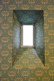 Small window inside a castle in Belgium Royalty Free Stock Photography