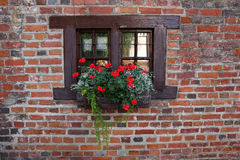 Small window of old medieval house. Royalty Free Stock Photography