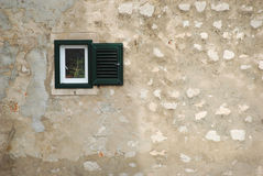 Small window in the old town Dubrovnik Croatia Royalty Free Stock Image