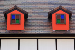 Small Windows  on The Roof Stock Photo