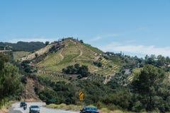 Small winery vista in Malibu, California. Boutique winery vista in Malibu, California, on a gorgeous summer day Royalty Free Stock Photo