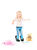 The small woman of fashion Royalty Free Stock Photography
