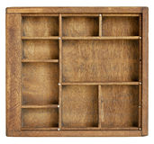 Small wood box with dividers Stock Images