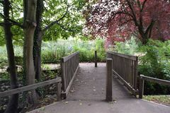 Small Wood Bridge In Park. Southend On Sea Royalty Free Stock Image