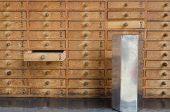 Small Wood Drawers Stock Photography