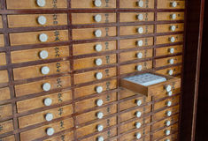 Small Wood Drawers Royalty Free Stock Image