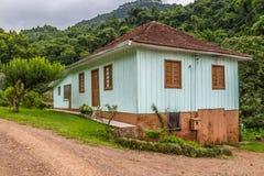 Small Wood Farm House. In Arroio do Meio, Rio Grande do Sul, Brazil stock image