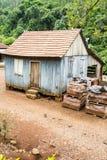 Small Wood Farm House. In Arroio do Meio, Rio Grande do Sul, Brazil royalty free stock photo