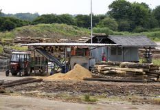 Small wood mill station. Stock Photography