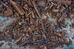 Small wood pieces Royalty Free Stock Photography